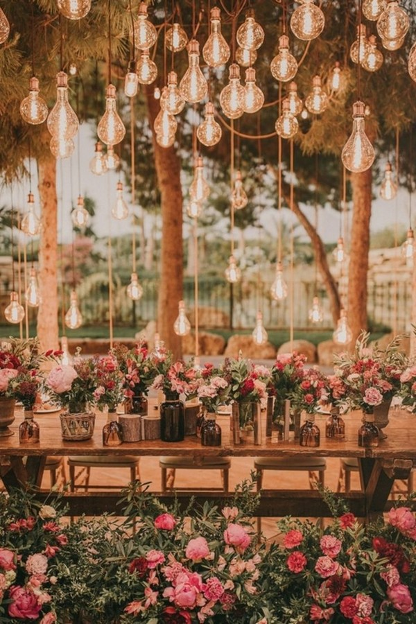 whimsical wedding reception lighting ideas