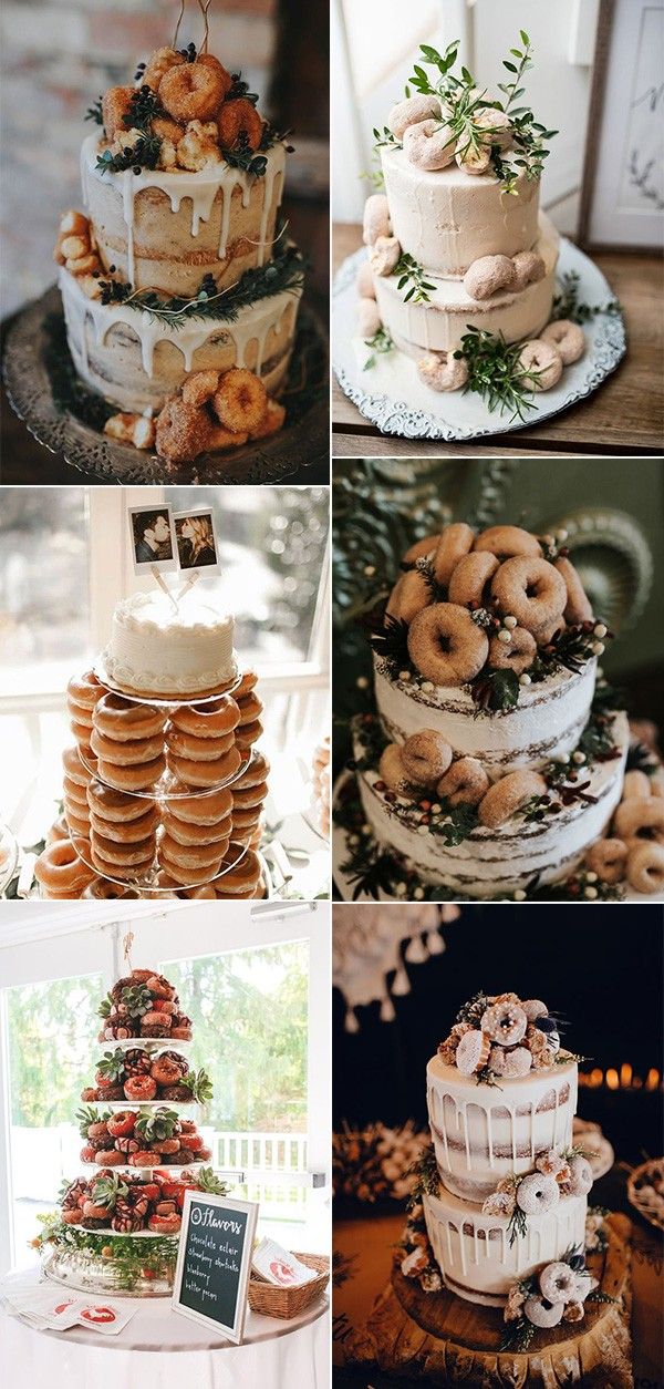 2019 trending wedding cake ideas with donuts
