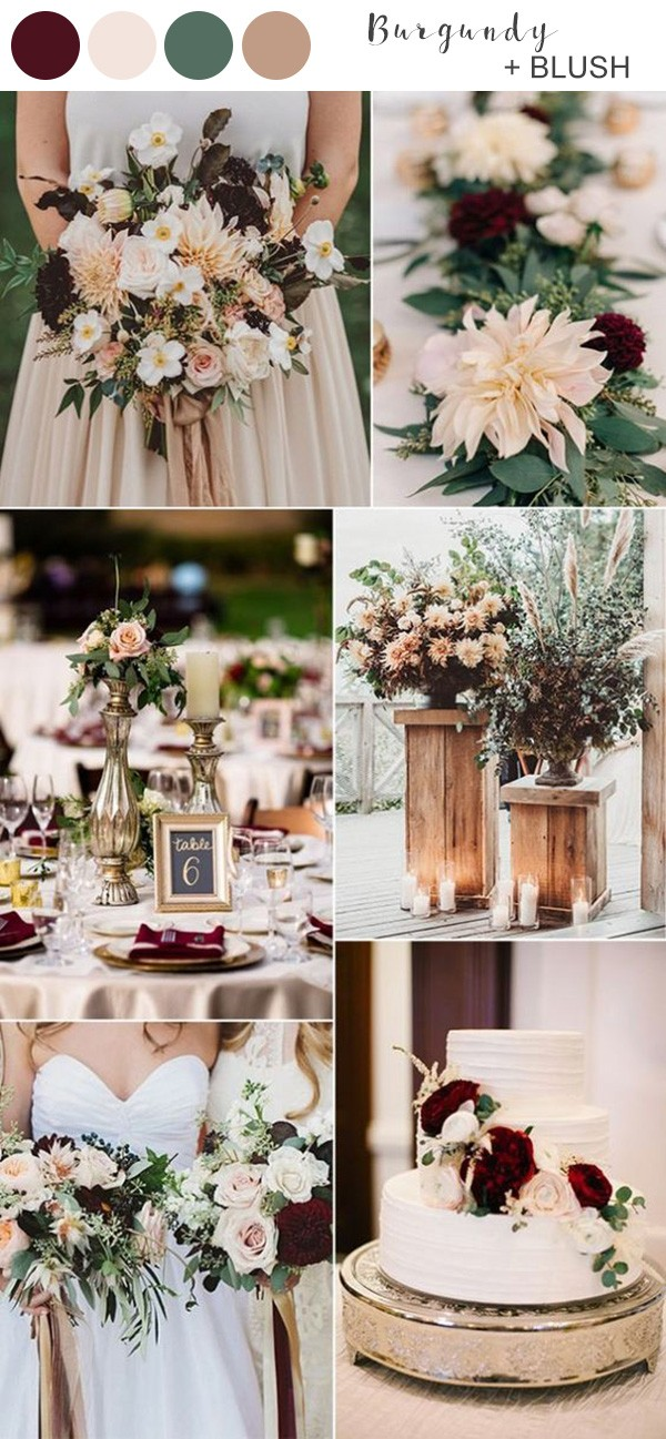 blush and burgundy fall wedding colors for 2019
