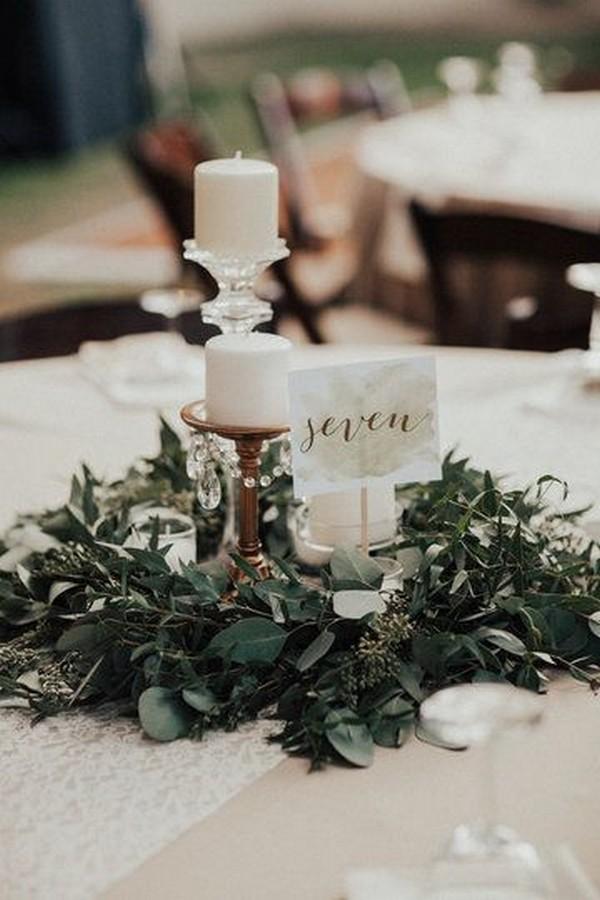 boho chic simple elegant wedding centerpiece
