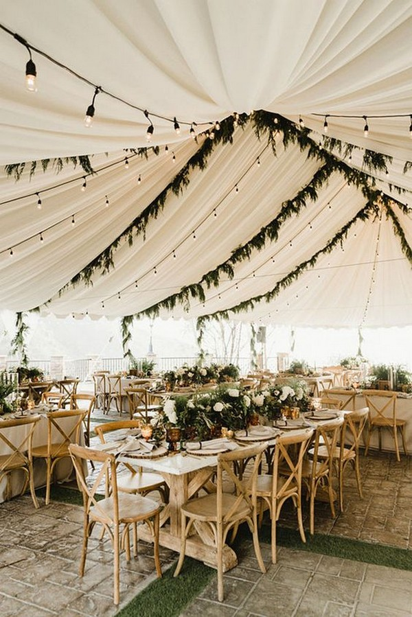 chic tented wedding reception decoration ideas