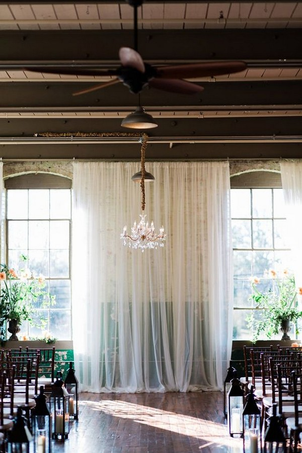 chic white draping wedding backdrop ideas