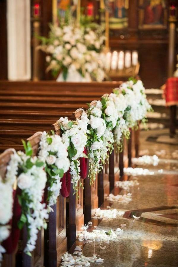 church pew wedding aisle ideas