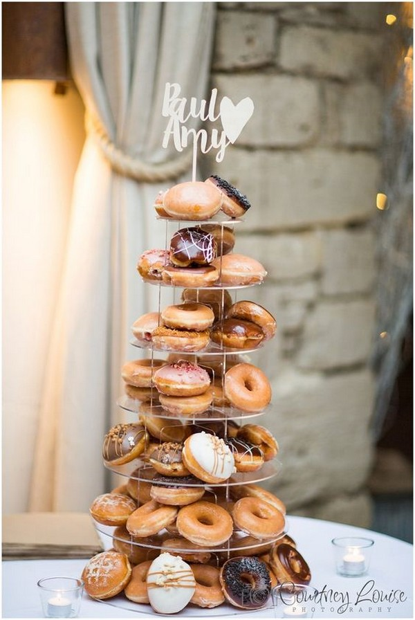 creative wedding cake ideas with donuts