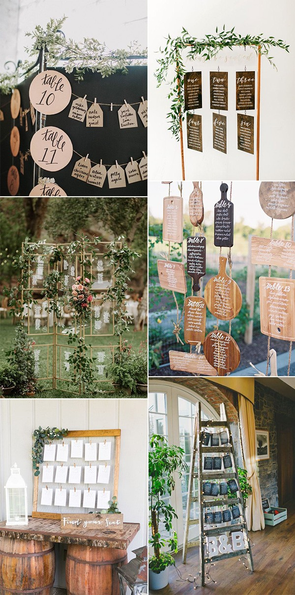 creative wedding seating chart display ideas for 2019