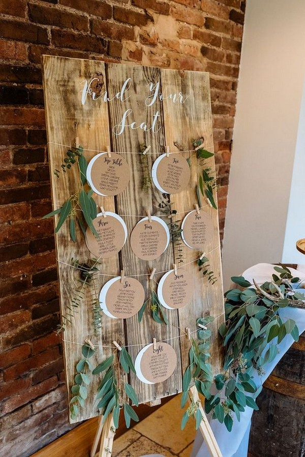 creative wedding seating plan display ideas