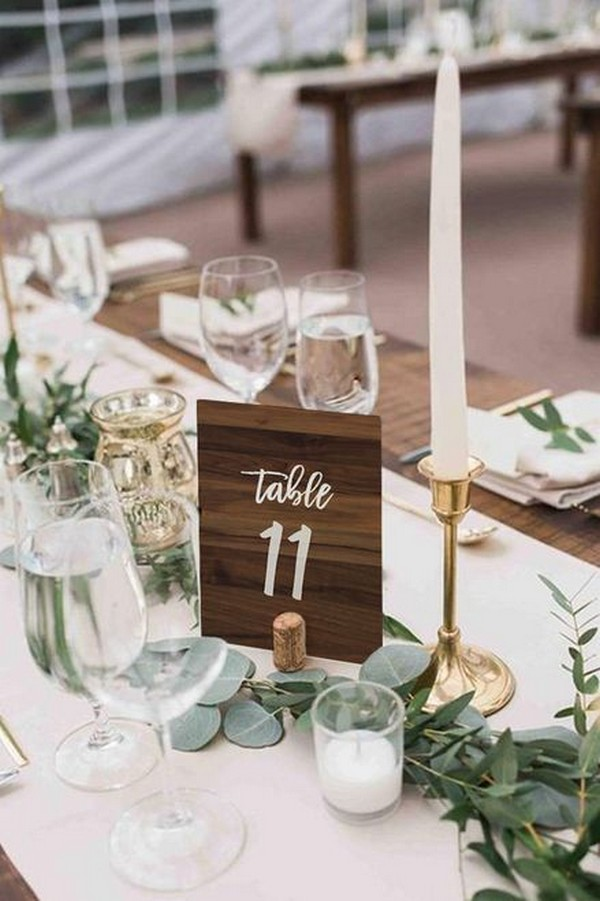 elegant wedding centerpiece with tape candle