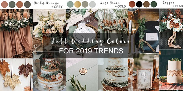 fall wedding colors 2019