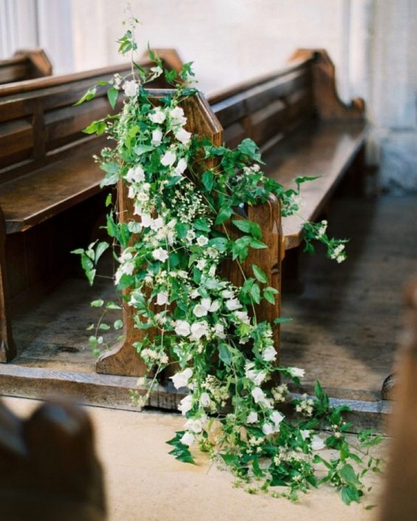 Flowers For Church Wedding Ceremony: 18 Church Pew Ends Wedding Aisle Decoration Ideas To Love