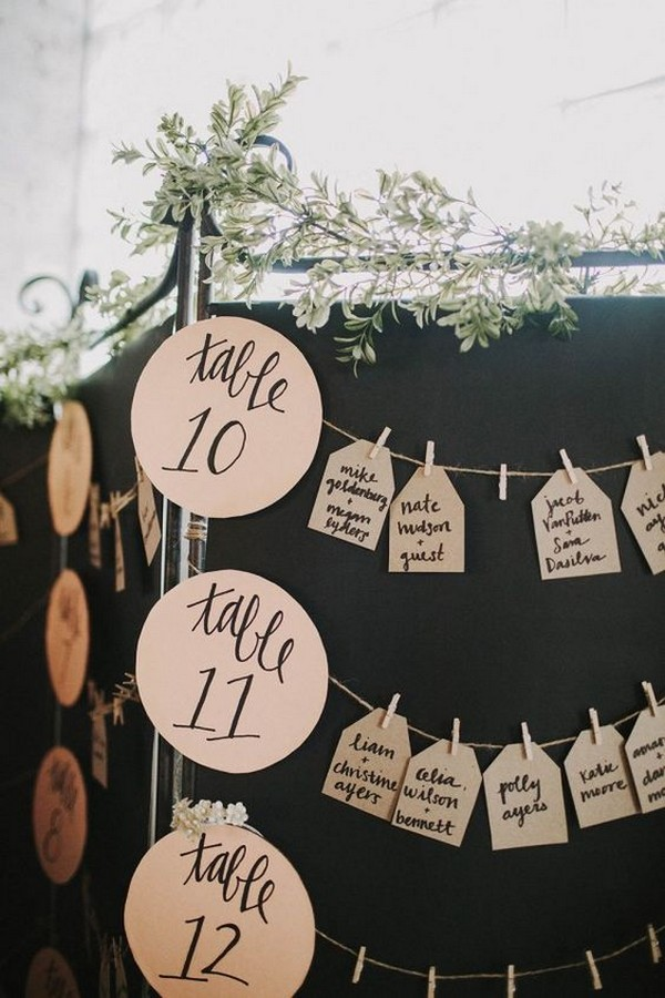 fun wedding seating chart display ideas
