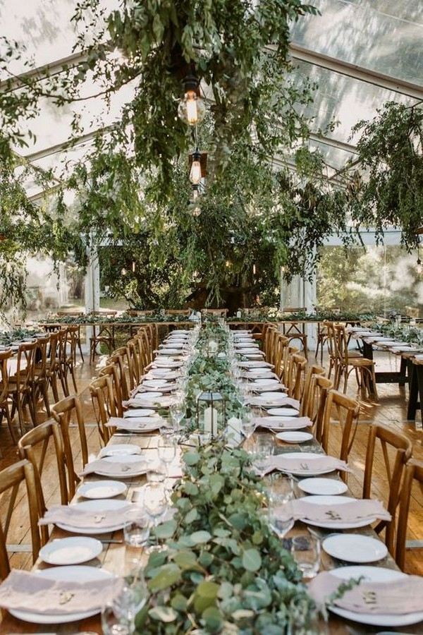 greenery tented wedding reception ideas