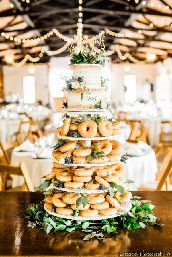 half cake half donuts wedding cake ideas