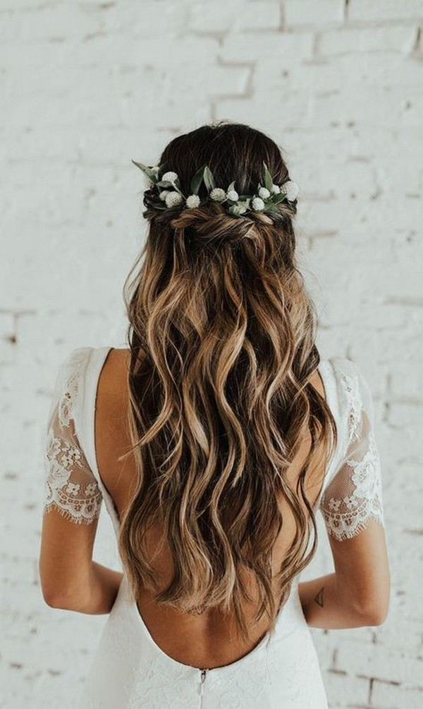 20 Brilliant Half Up Half Down Wedding Hairstyles for 2019 ...