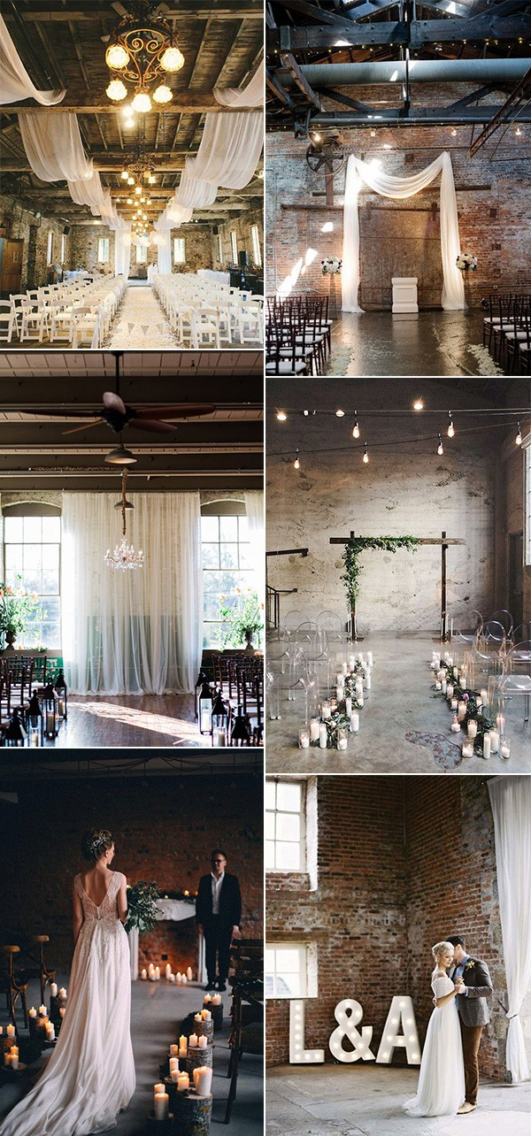 industrial loft wedding ceremony ideas for 2019 trends