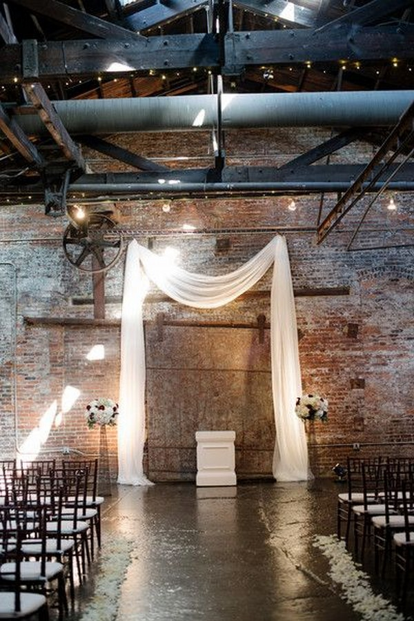 industrial loft wedding venue for modern ceremony