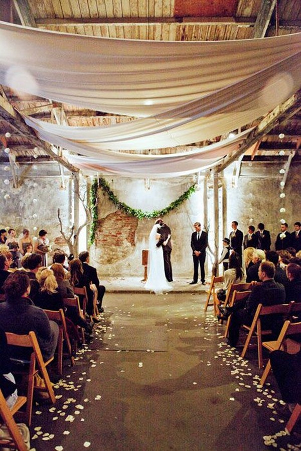 loft wedding ceremony decoration ideas