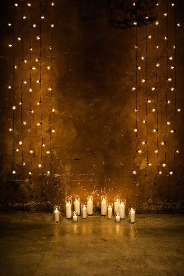 loft wedding ceremony lights decoration ideas