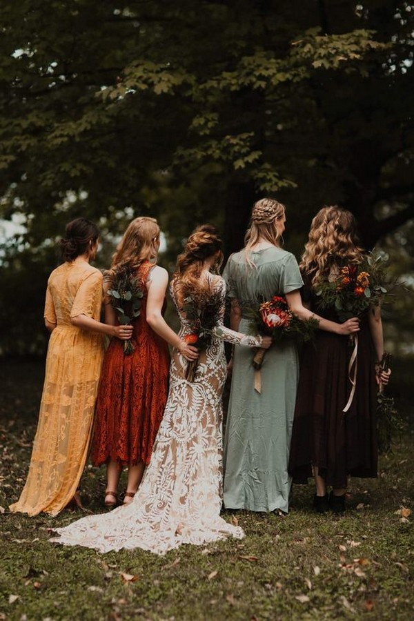 mix and match fall bridesmaid dresses