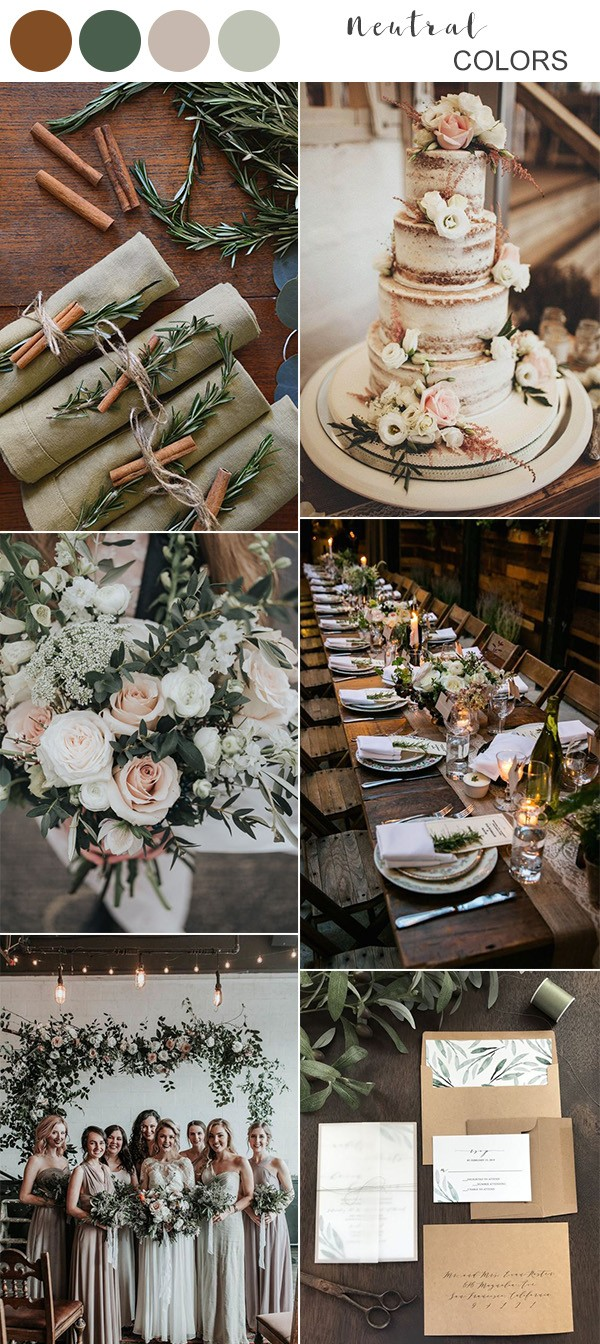 neutral fall wedding color ideas for 2019