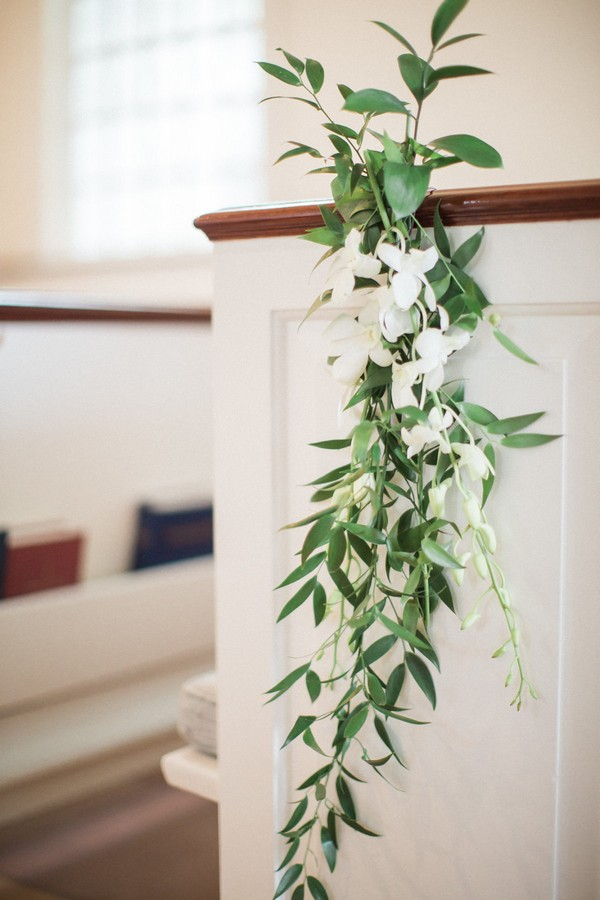 simple elegant church wedding aisle decoration ideas