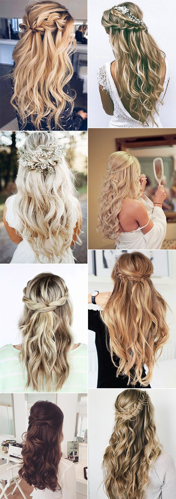 trending elegant half up half down wedding hairstyles