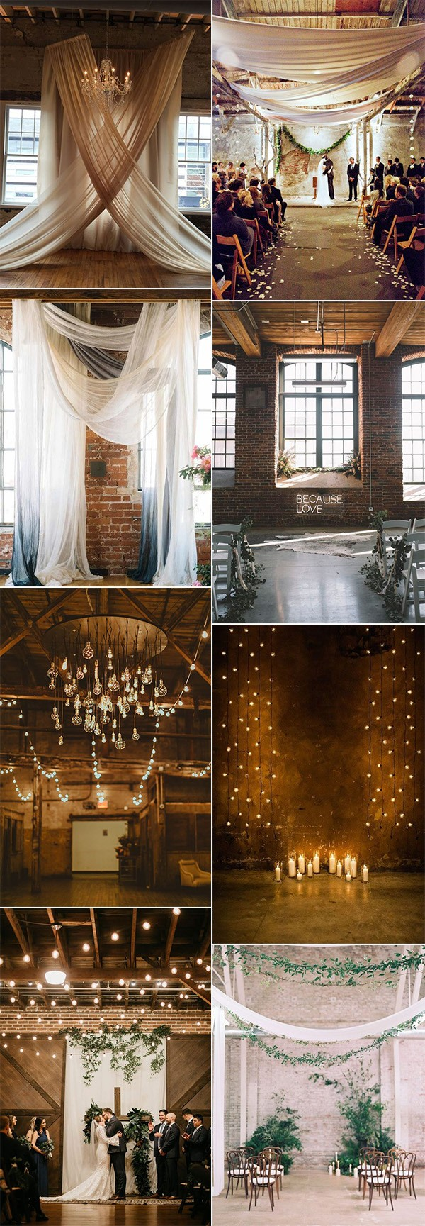 trending industrial loft wedding ceremony decoration ideas for 2019