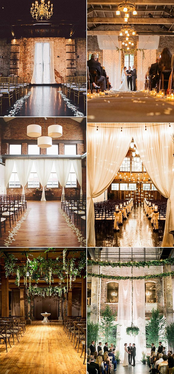 trending loft wedding ceremony decoration ideas for 2019