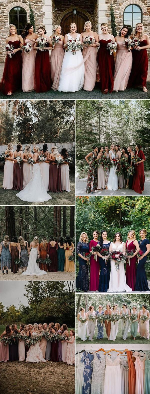 trending mismatched bridesmaid dress ideas