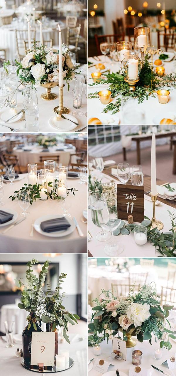 trending simple but elegant wedding centerpieces