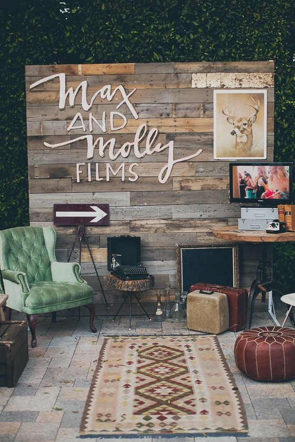 vintage wedding photo booth backdrop ideas