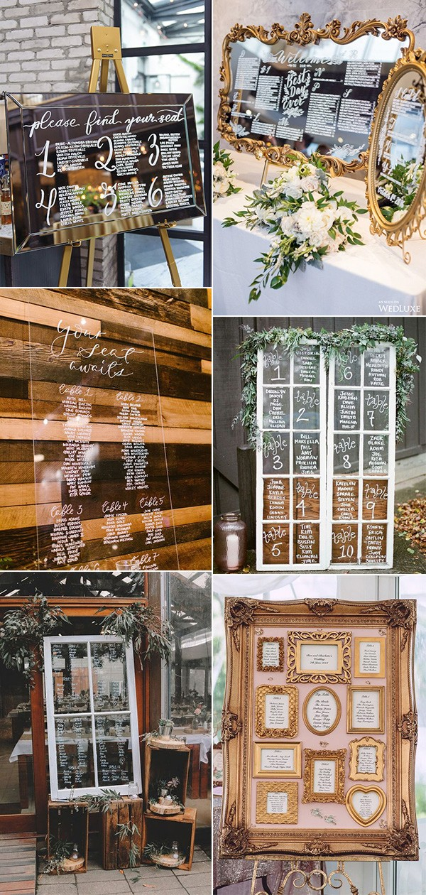 vintage wedding seating chart plan ideas for 2019 trends