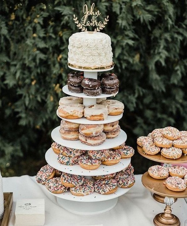 wedding cake ideas with donuts