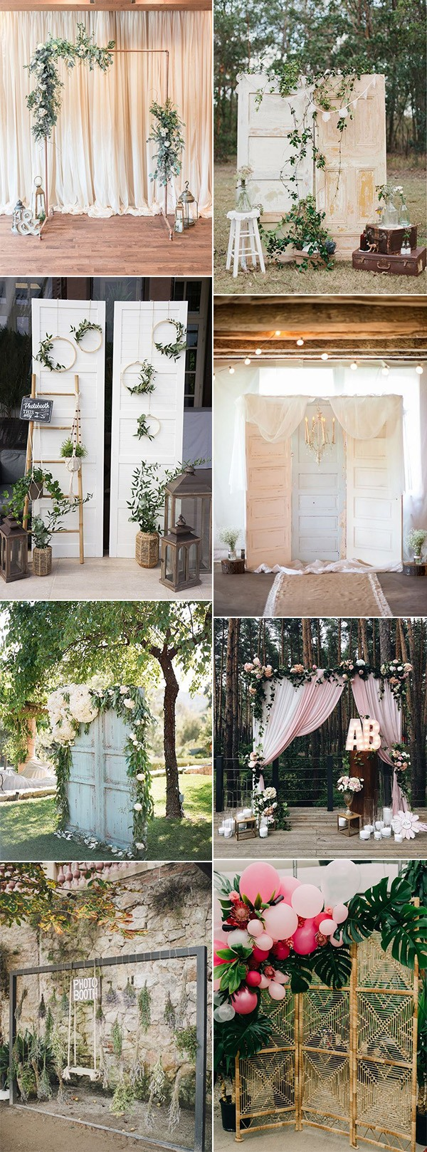 wedding photo booth backdrop ideas for 2019 trends