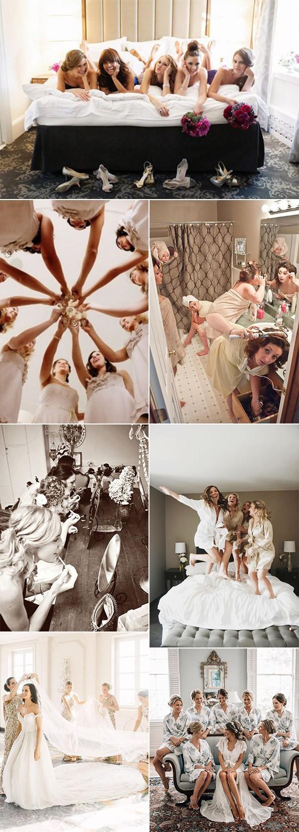 wedding photo pose ideas with bridesmaids
