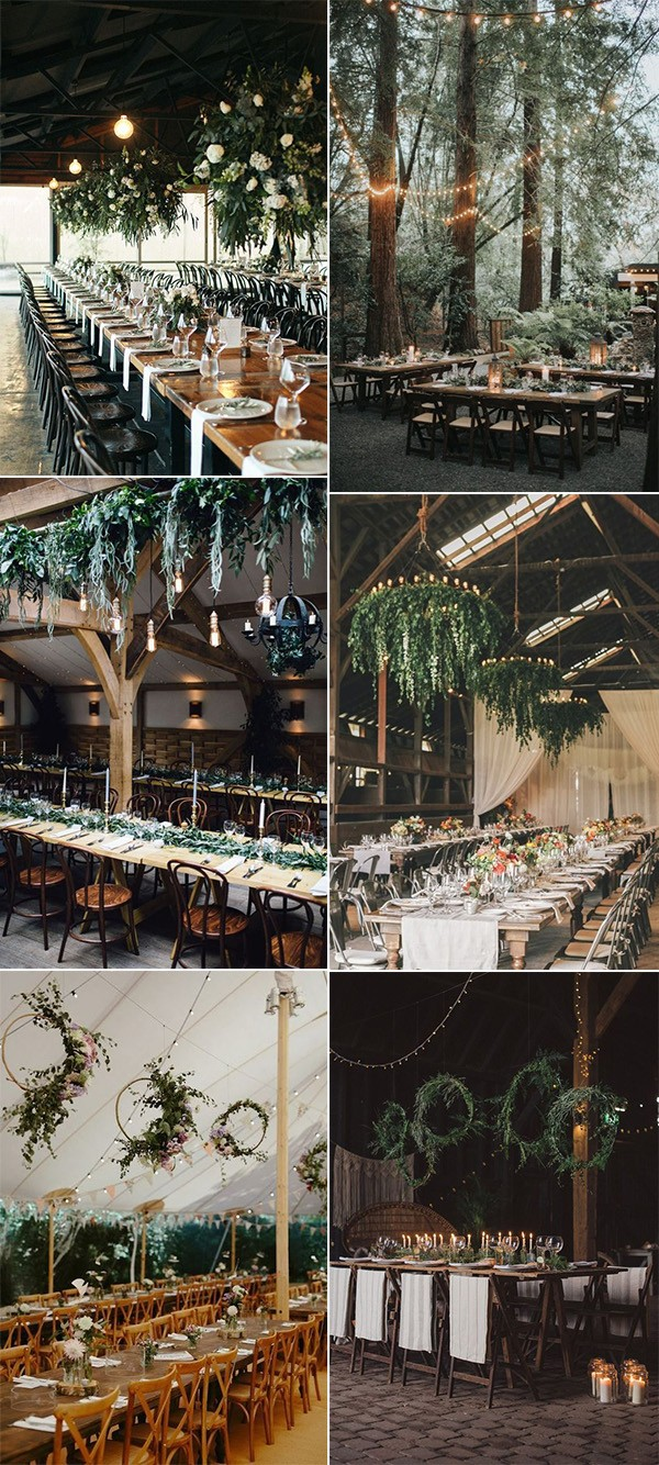 wedding reception decorations with greenery and lights for 2019