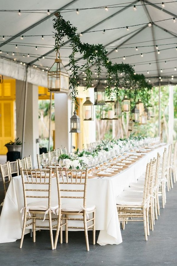 wedding reception ideas with hanging lanterns