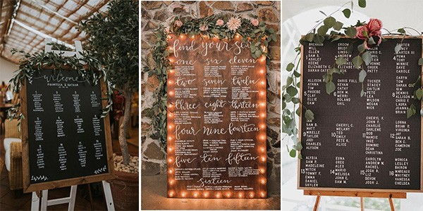 wedding seating plan ideas