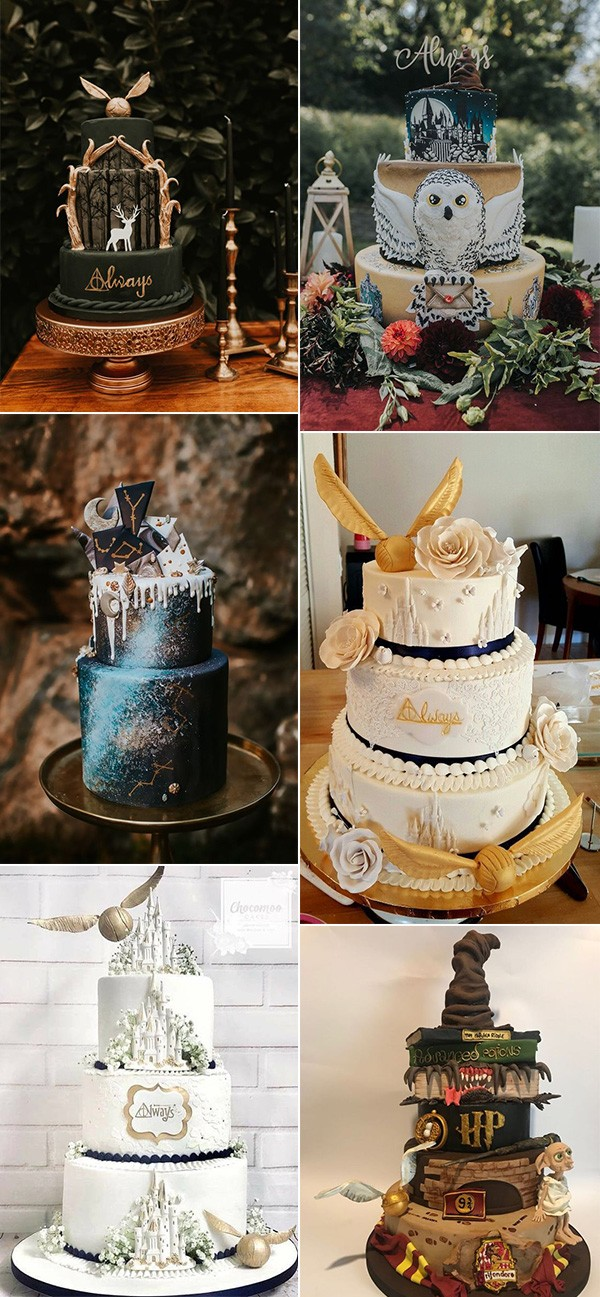 Harry Potter themed wedding cakes
