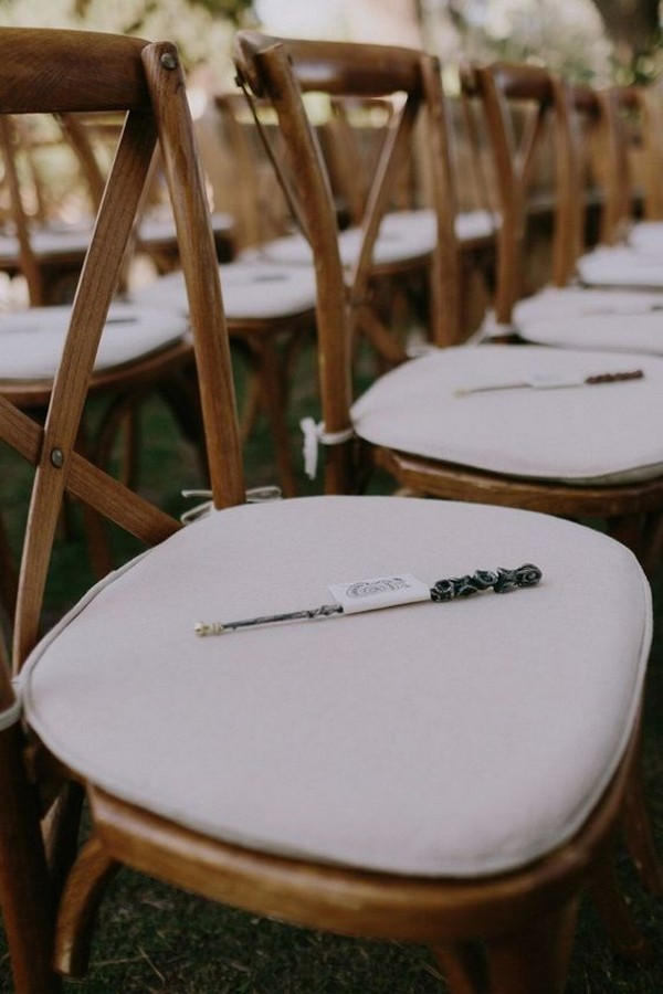 Harry Potter themed wedding chair