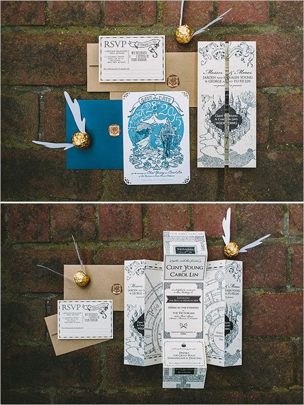 Harry Potter themed wedding invitations 2