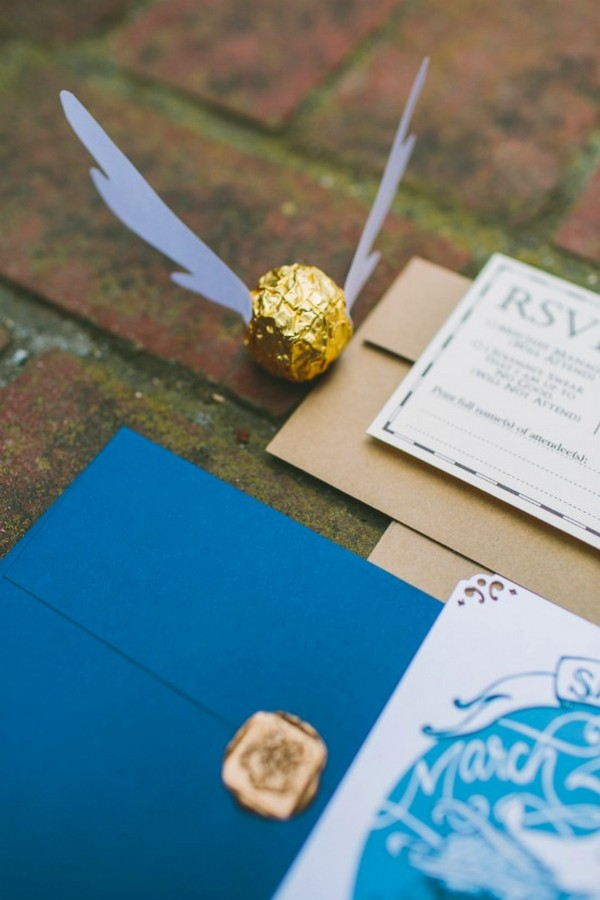 Harry Potter themed wedding invitations