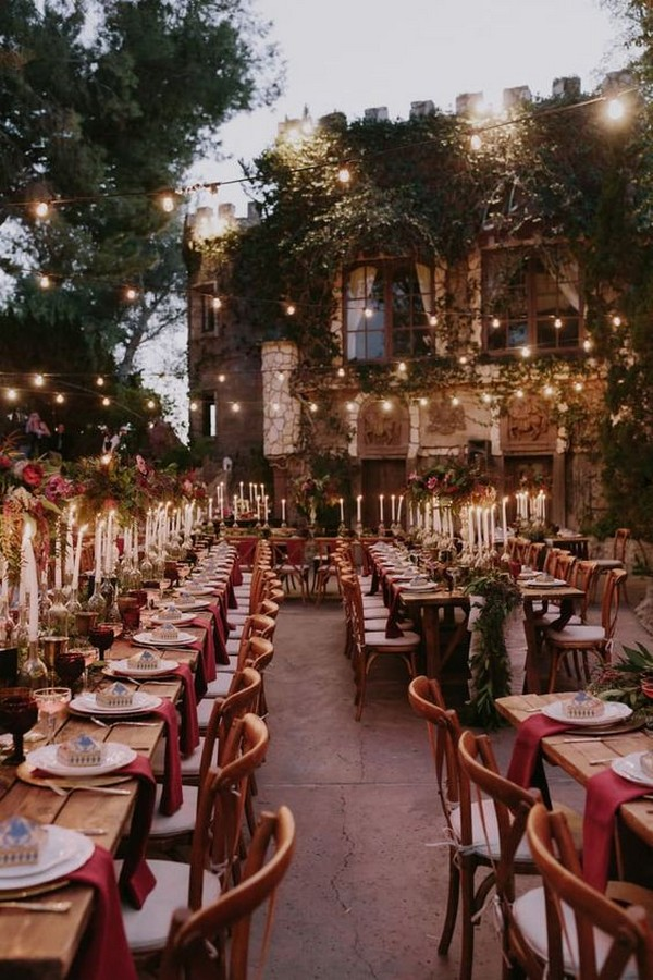 Harry Potter themed wedding reception decoration ideas