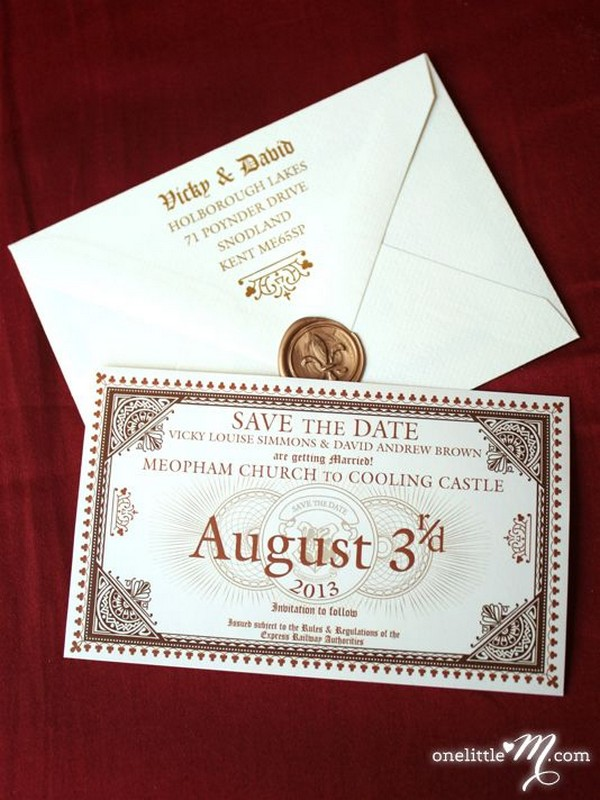 Hogwarts Express Ticket save the dates