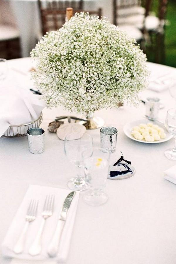 baby's breath summer wedding centerpiece ideas