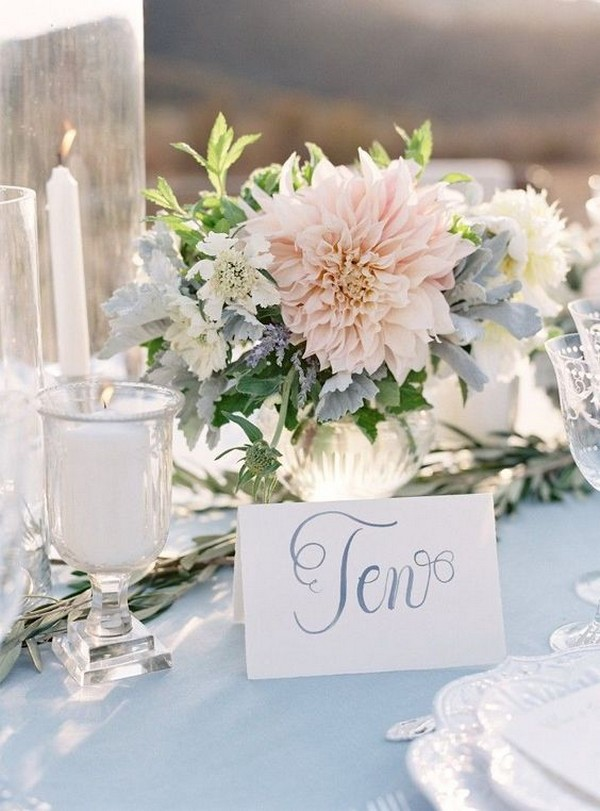 blush pink wedding centerpiece