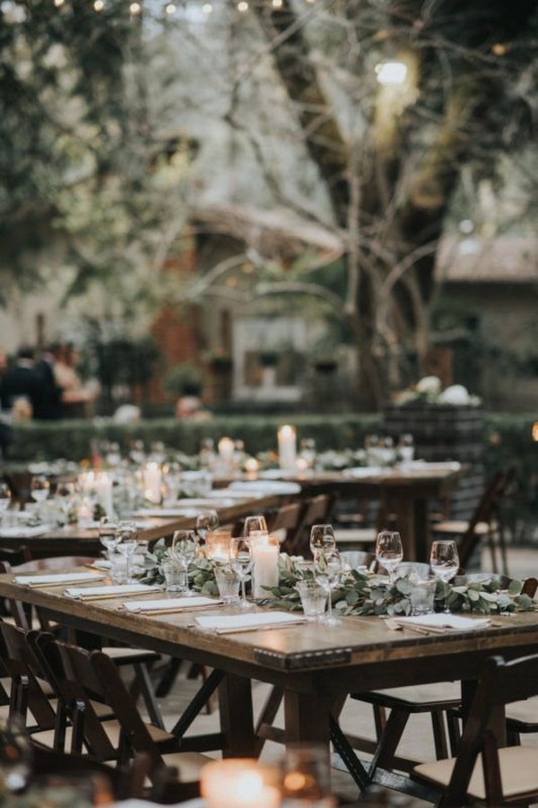 creative woodland wedding reception ideas