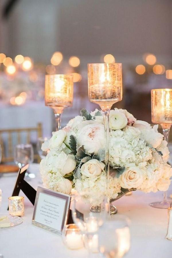 elegant summer wedding centerpiece ideas with candles