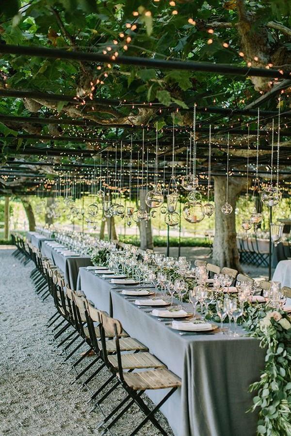 garden wedding reception ideas with candles