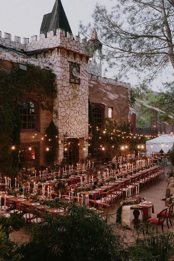 glam Harry Potter themed wedding reception ideas
