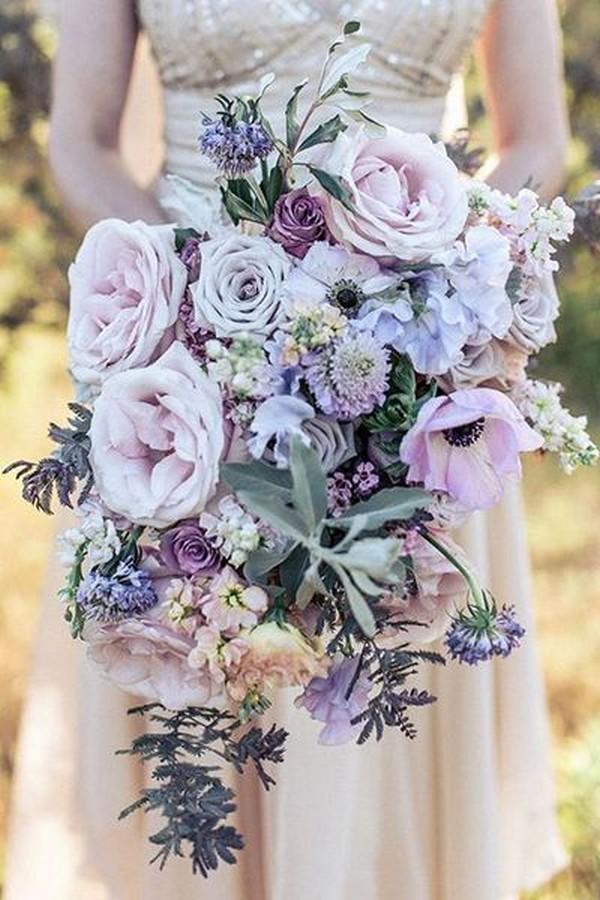 lavender tones spring wedding bouquet ideas